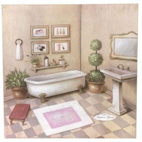Quadro elise 39 bagno shabby quadri - Quadri shabby chic camera da letto ...