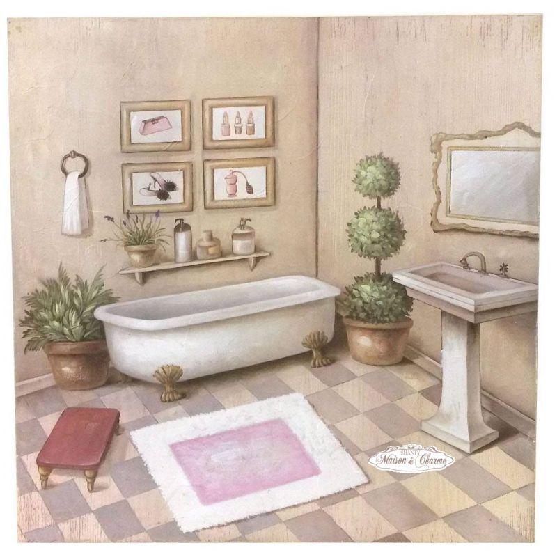 Quadro elise 39 bagno shabby quadri - Quadri per bagno ...