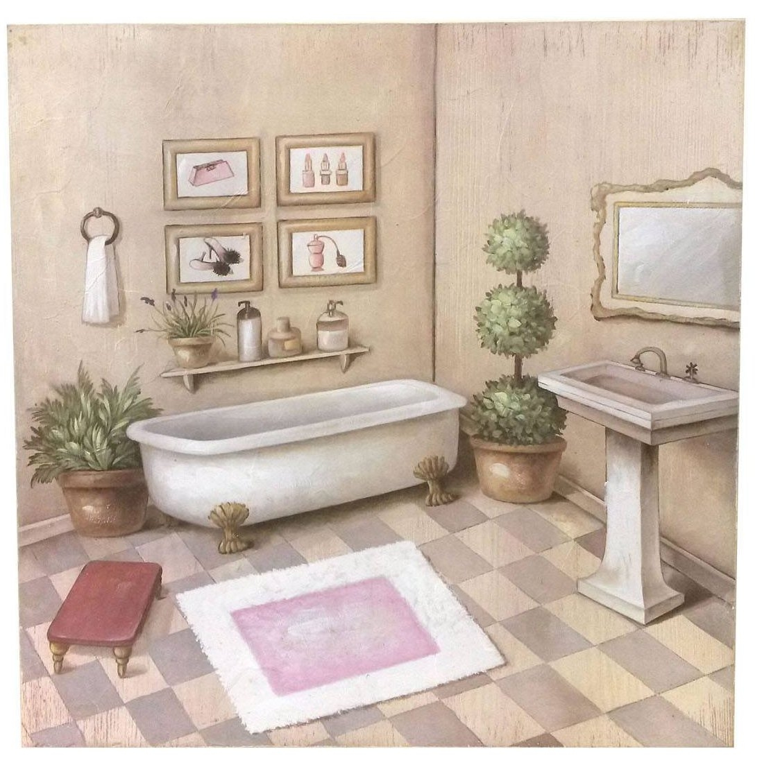 Quadro elise 39 bagno shabby quadri - Quadri da mettere in bagno ...
