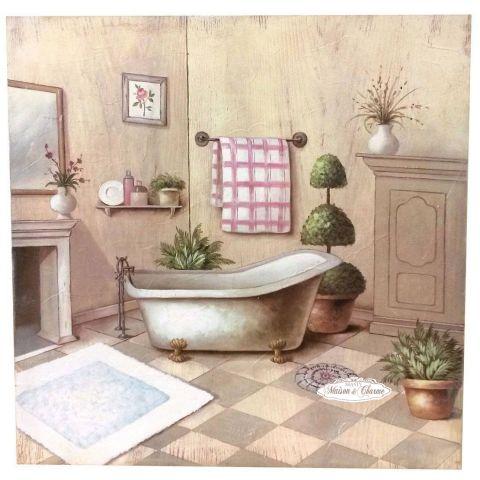 Quadro julie bagno shabby quadri - Quadri in bagno ...