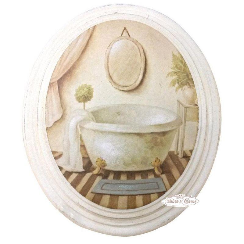 Quadro giselle bagno shabby quadri - Quadri in bagno ...