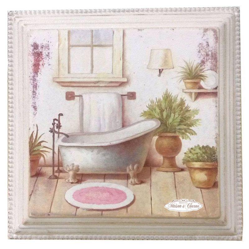 Stampe per bagno free effetto d stampa ceramica pavimento for Quadro shabby