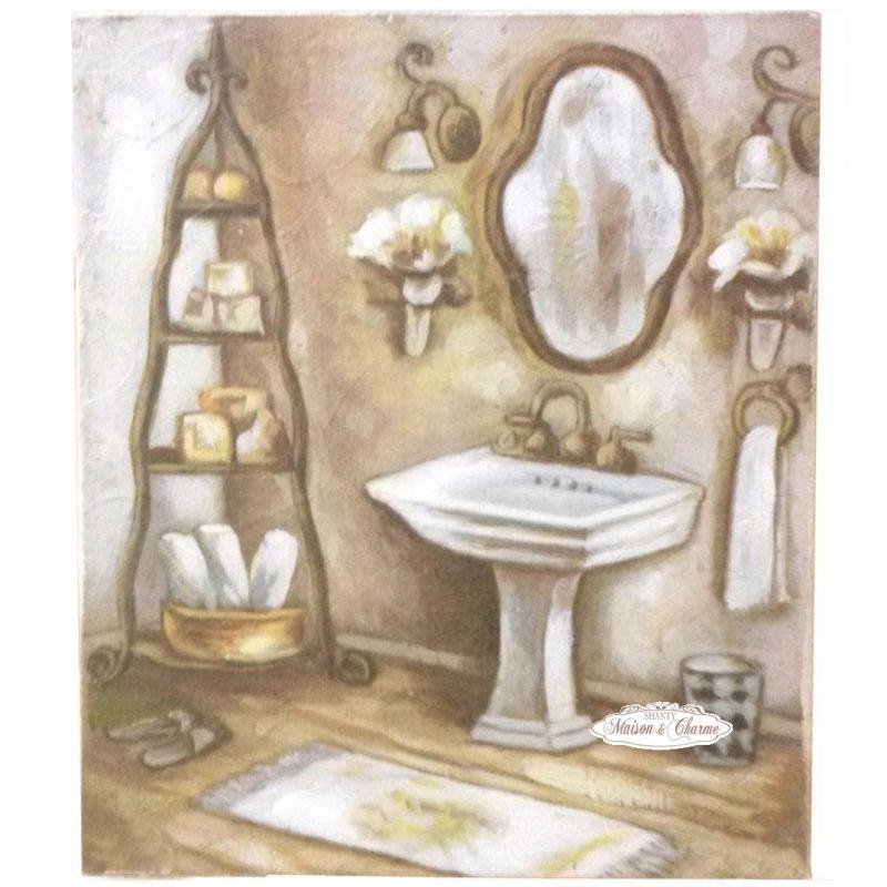 Quadro oriane bagno shabby quadri - Quadri per il bagno ...