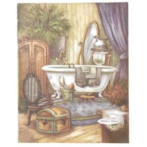 Quadro ambre 39 bagno shabby quadri - Bagno provenzale shabby ...