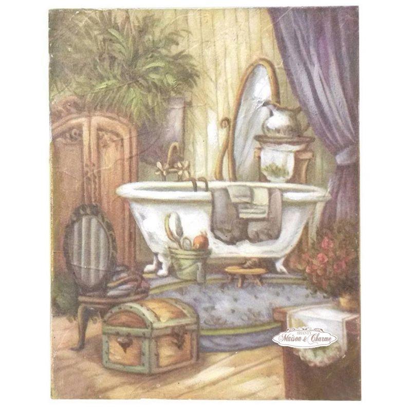 Quadro ambre 39 bagno shabby quadri - Stampe per bagno ...
