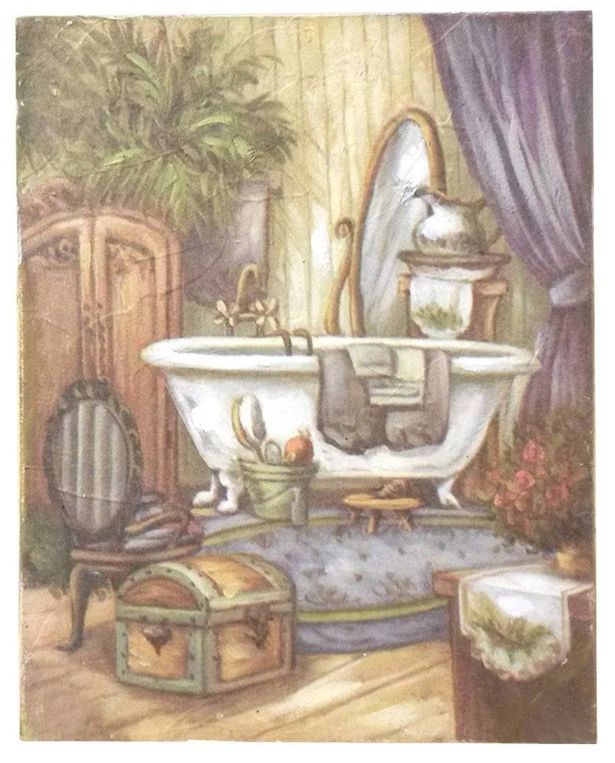 Quadro ambre 39 bagno shabby quadri - Quadri x camera da letto ...