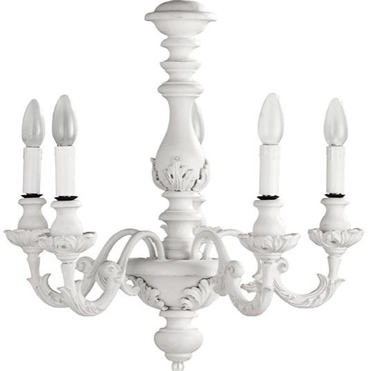 Lampadario romantic 5 shabby chic lampadari lampade for Lampade shabby chic online