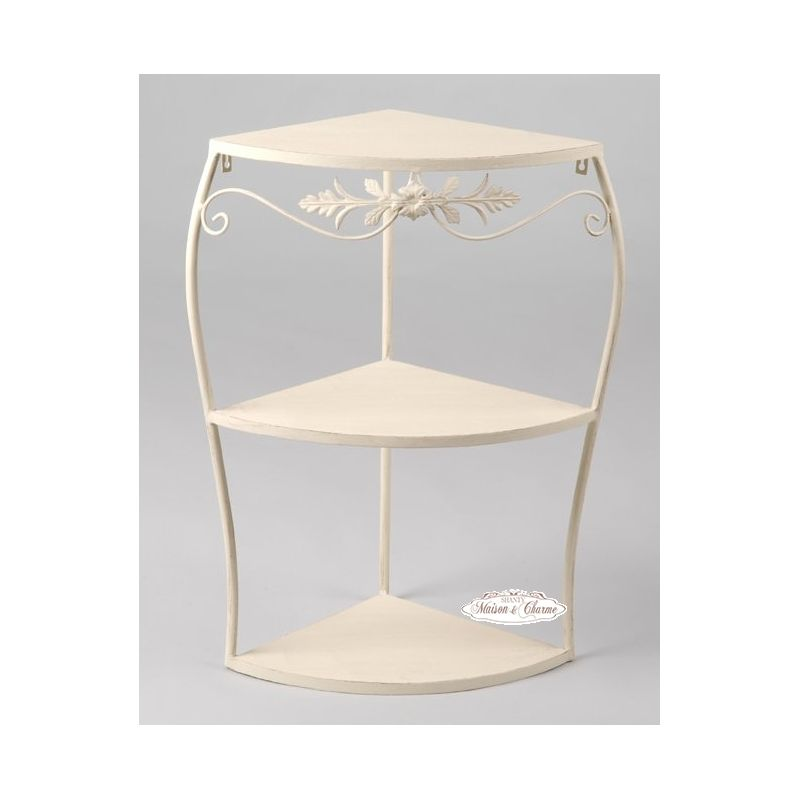 Etagere auxelle 2 shabby mobili in ferro for Mensole in ferro battuto