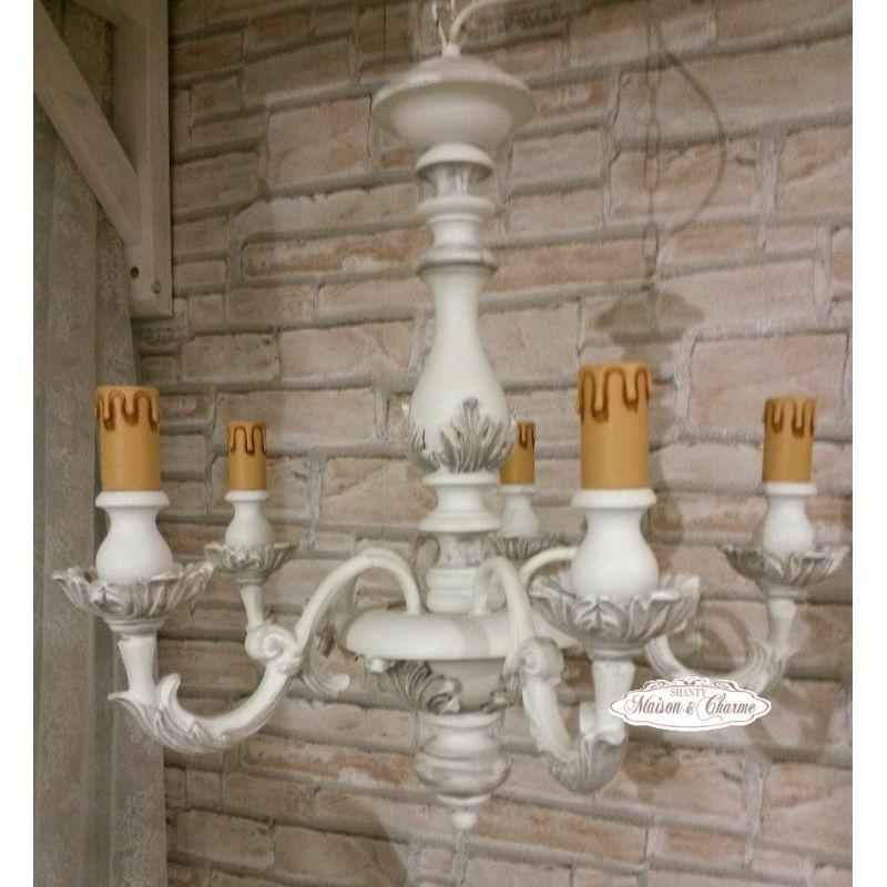 Lampadario ROMANTIC 5 Shabby Chic Lampadari - Lampade