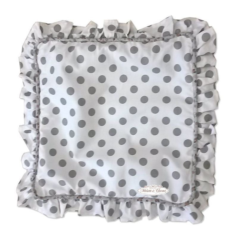 Cuscino grey pois shabby chic biancheria cucina tovaglie for Cuscini shabby chic on line