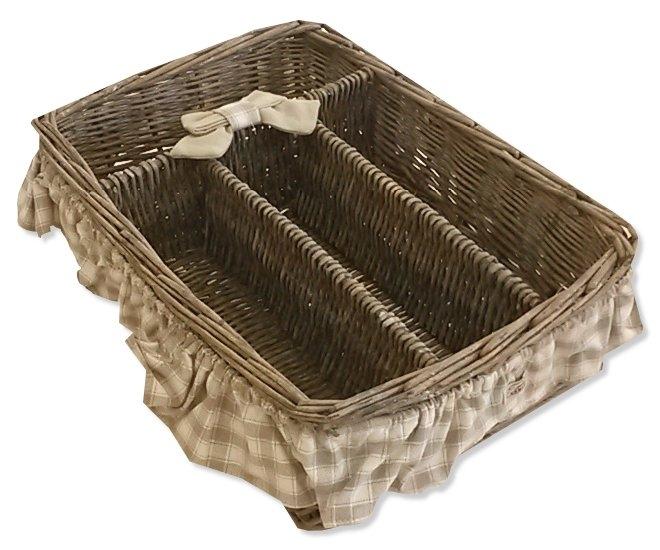 Porta posate fiocco beige country accessori cucina shabby chic - Accessori cucina shabby chic ...