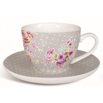 Set 6 Tazze Caffe' CAROLIN Shabby Chic