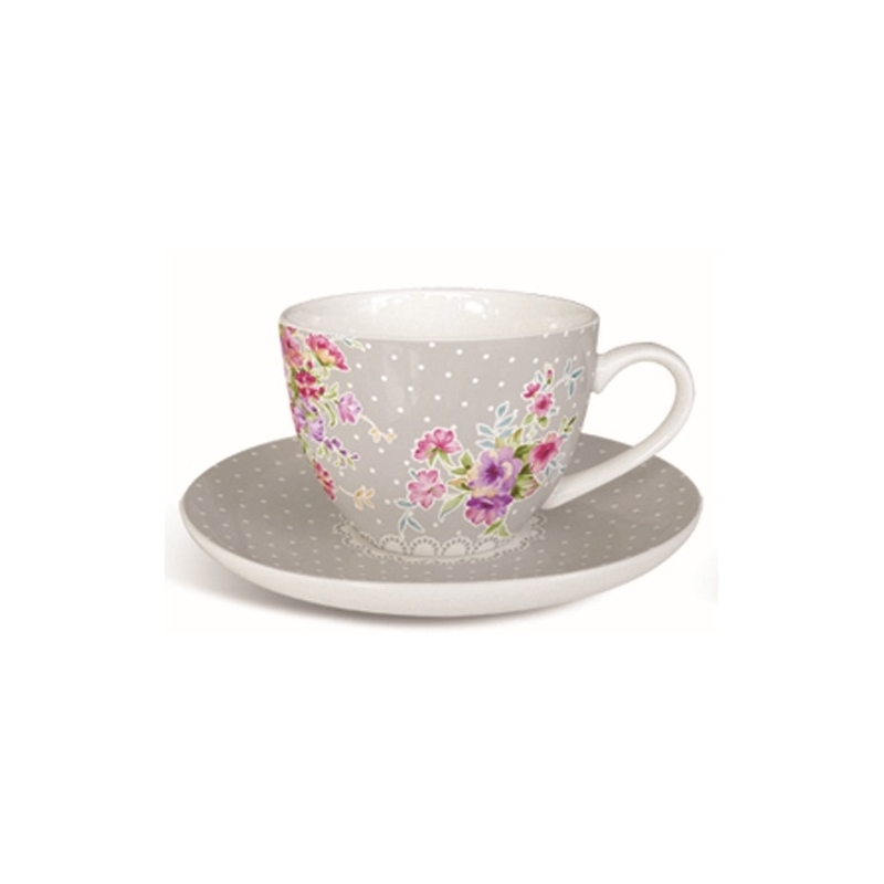 Set 6 Tazze Caffe Carolin Shabby Chic Bicchieri Mug Tazze