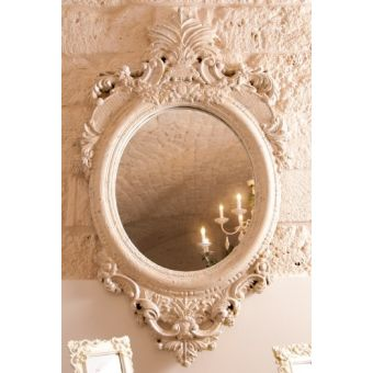 Specchio shabby chic complementi d 39 arredo in stile provenzale for Complementi d arredo shabby