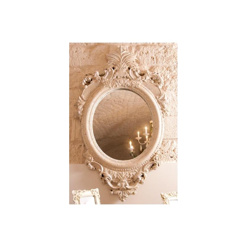 Specchio fregio shabby chic specchi - Specchio ovale shabby chic ...