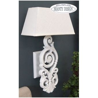applique roma 2 shabby chic lampadari lampade. Black Bedroom Furniture Sets. Home Design Ideas