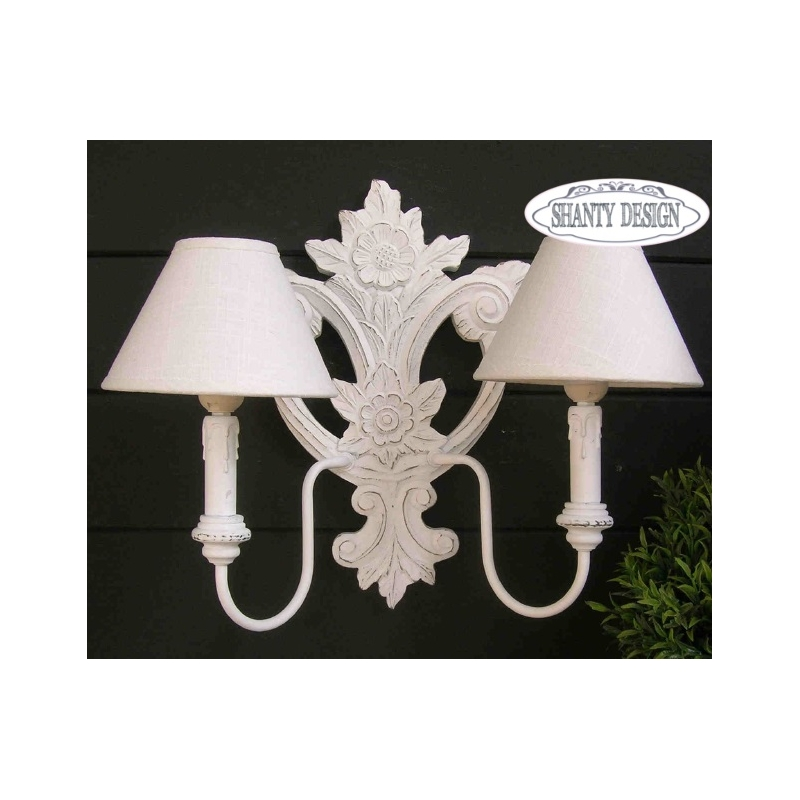 applique roma 3 shabby chic lampadari lampade. Black Bedroom Furniture Sets. Home Design Ideas