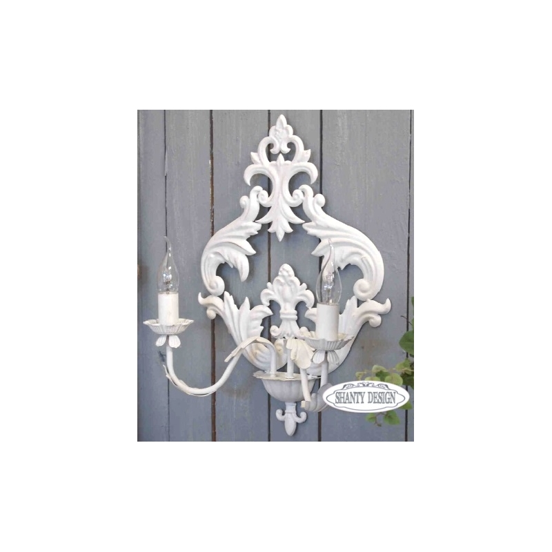 applique roma 4 shabby chic lampadari lampade. Black Bedroom Furniture Sets. Home Design Ideas