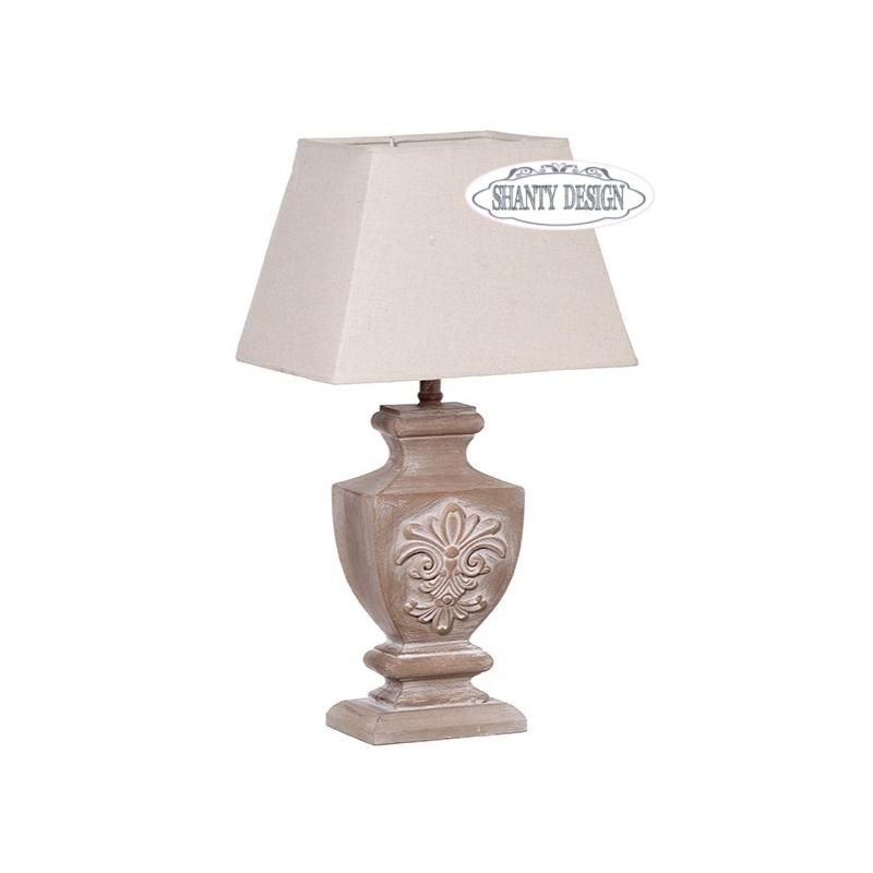lampada tavolo fregio ecru shabby chic lampadari lampade