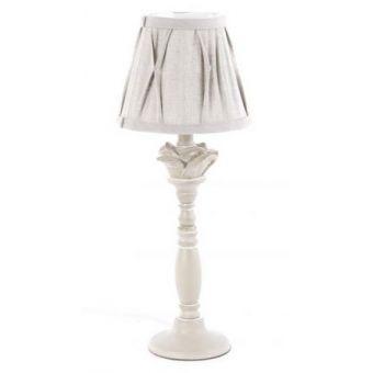 Lampada da Tavolo in legno Decapato Shabby Chic - modelo DENISE 2
