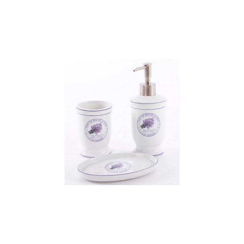 Set accessori bagno lavanda shabby chic accessori bagno - Accessori bagno stile provenzale ...