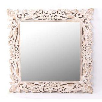 Specchio shabby provenzale in legno per arredamento - Specchio ovale shabby chic ...