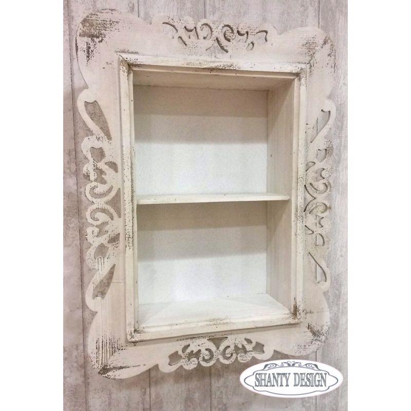 Pompeiana in legno e plexiglass for Cornici per quadri shabby chic