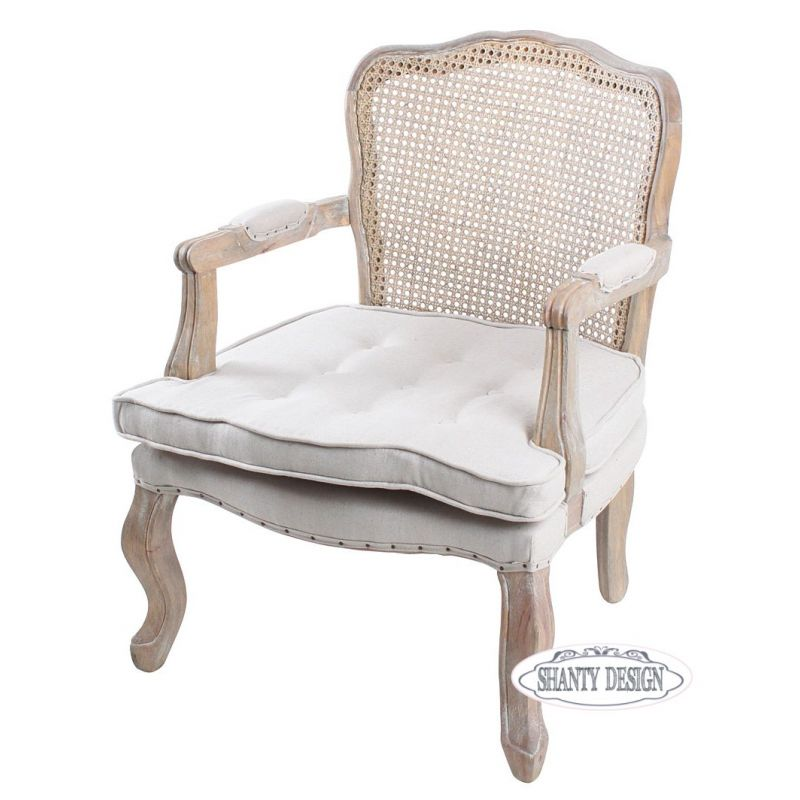 Poltrona vienna shabby chic sedie for Sedia design paglia di vienna