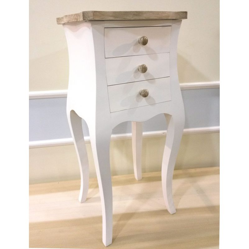 Comodino roma 4 provenzale comodini shabby chic for Case in stile country francese in vendita