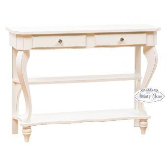 Consolle mobili shabby in legno stile provenzale country for Casa in stile magazzino