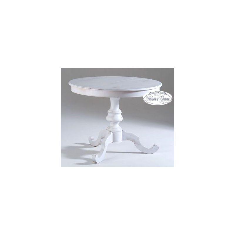 Tavolo rotondo allungabile provence 3 shabby chic tavoli - Tavolo quadrato allungabile shabby chic ...