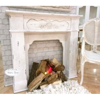 Shabby Design Specchiera Evita Shabby Chic Colore Bianco Cm 38x32 ...