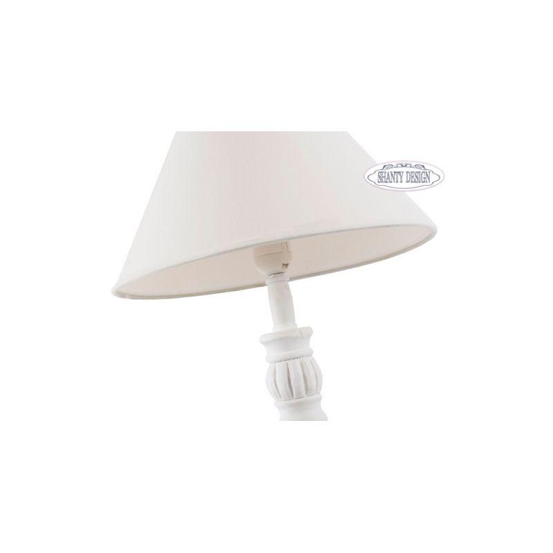 Lampada tavolo denise 6 shabby chic lampadari lampade for Lampada da tavolo design legno