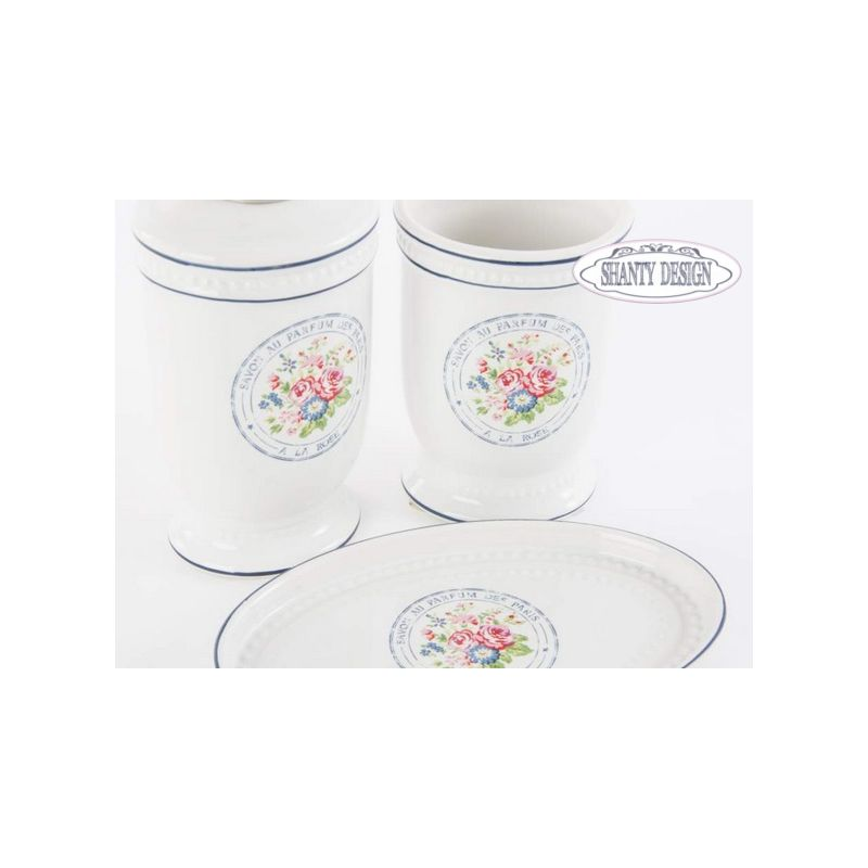 Set Accessori Bagno ROMA 8 Shabby Chic Accessori Bagno