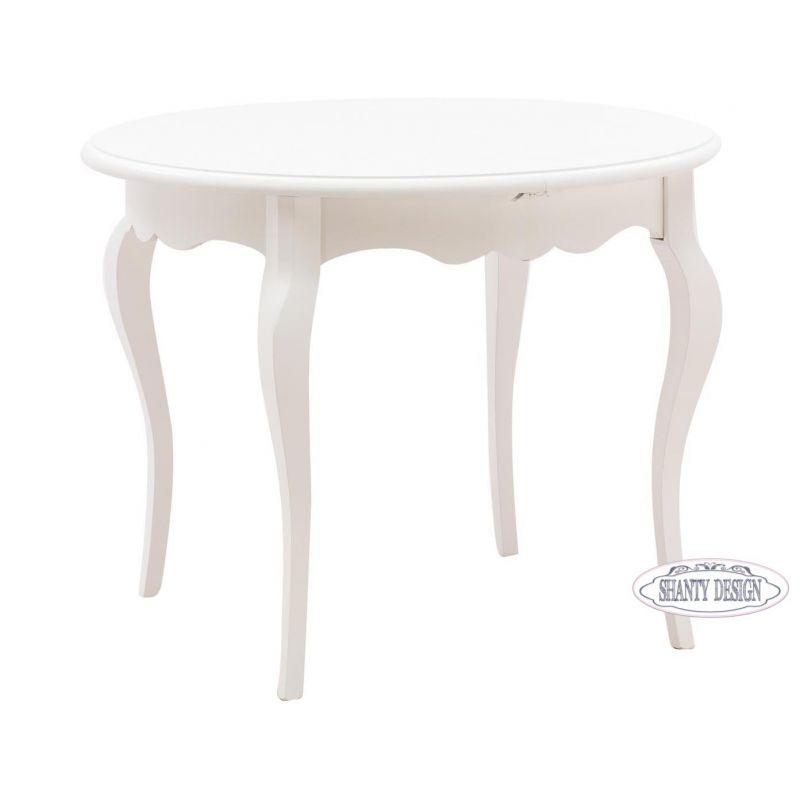 Tavolo Bianco Decapato.Tavolo Rotondo Roma A In Legno Shabby Chic