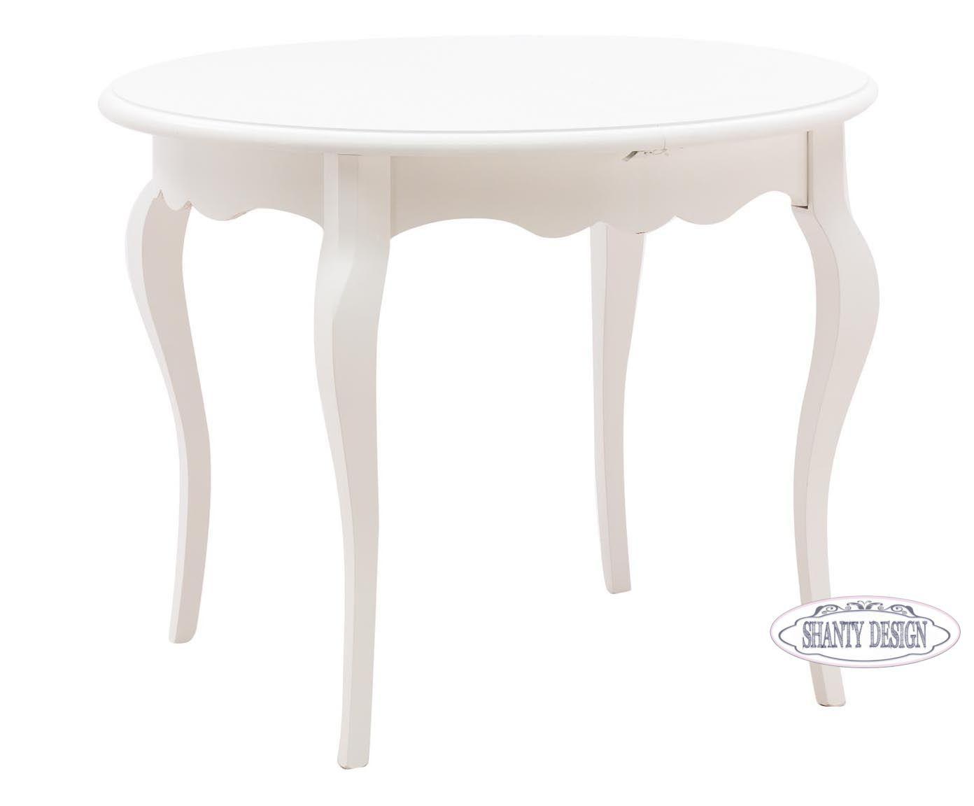 Tavoli Stile Shabby Chic : Tavolo rotondo roma a in legno shabby chic tavoli