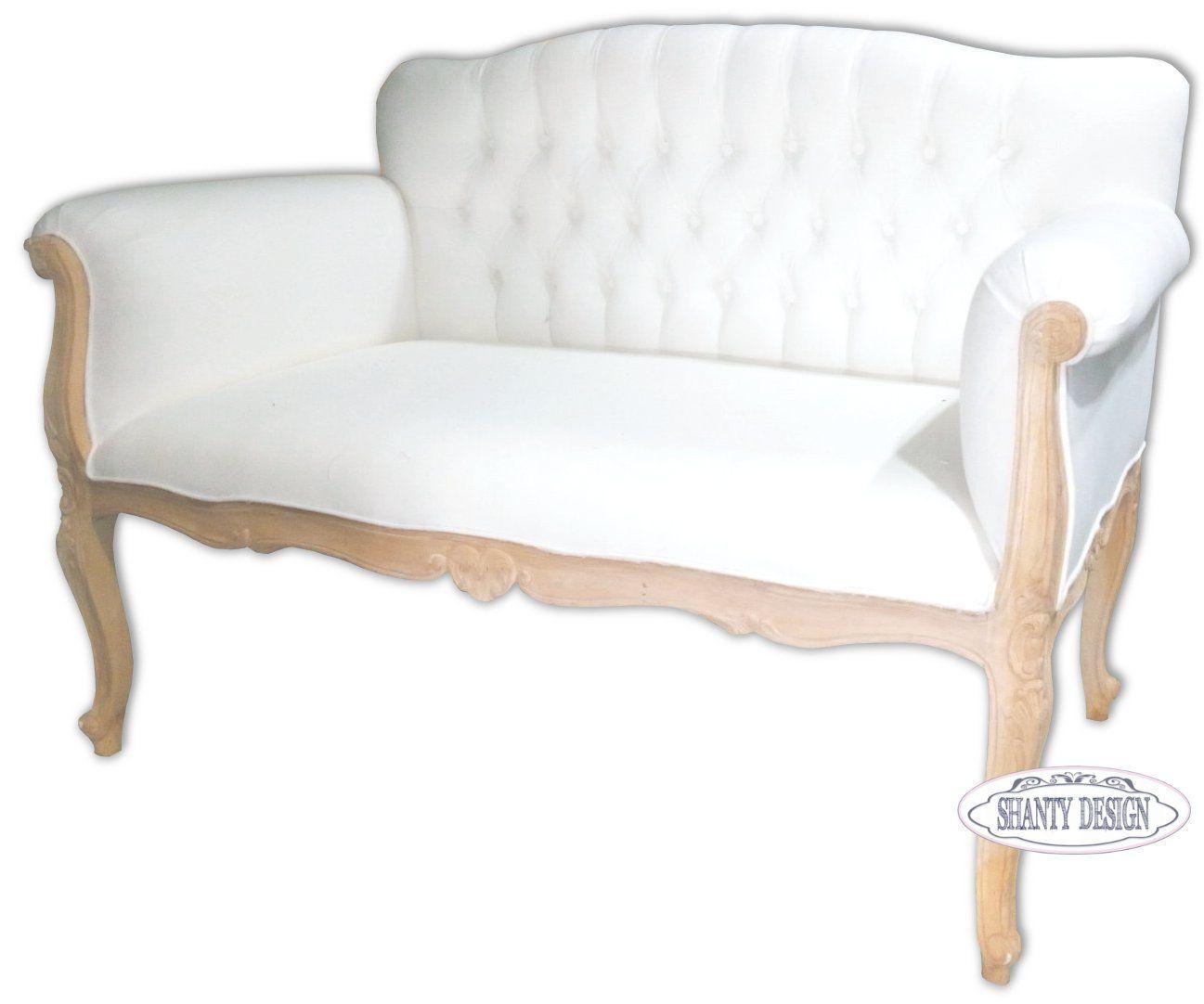 Divano shabby chic clarissa sedie for Divano letto shabby chic