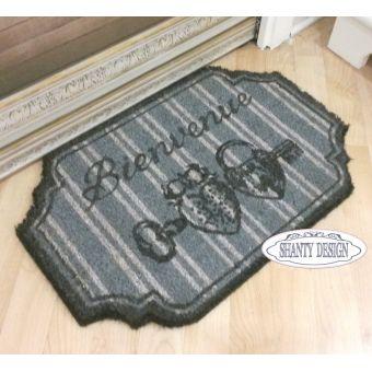 Tappeto per bagno in stile country SEPHORA 6 con cuore e merletti provenzali shabby chic online