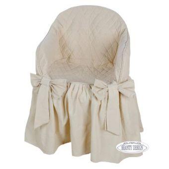vestipoltrona in tessuto provenzale con seduta imbottita in stile shabby chic online modello FIOCCO