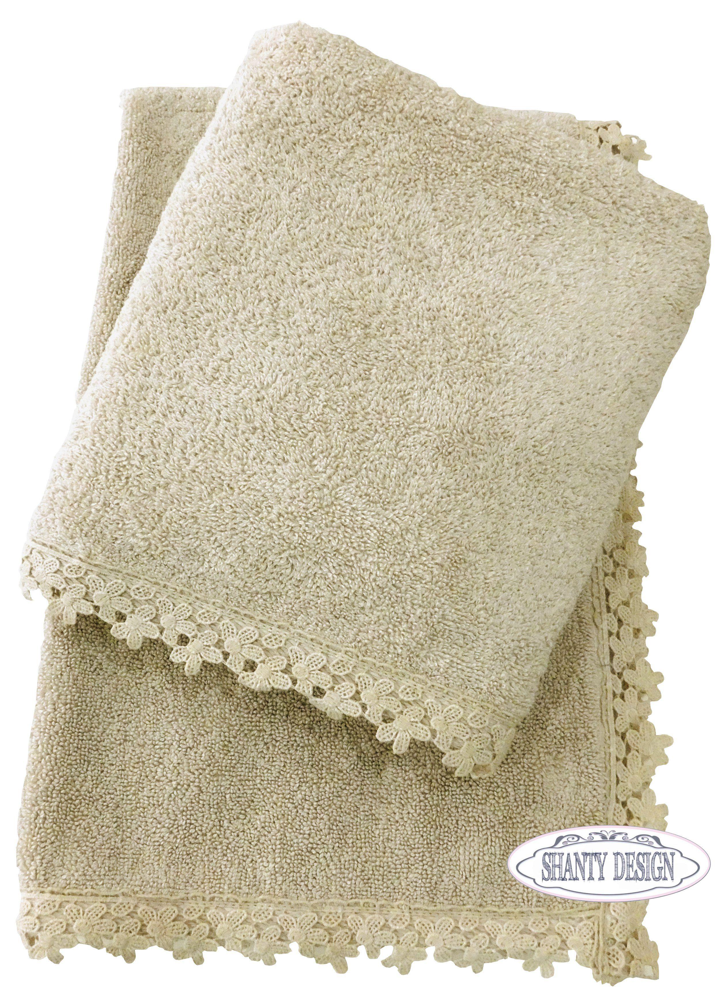 Coppia asciugamani bagno lilla 39 3 shabby chic biancheria - Biancheria bagno ...