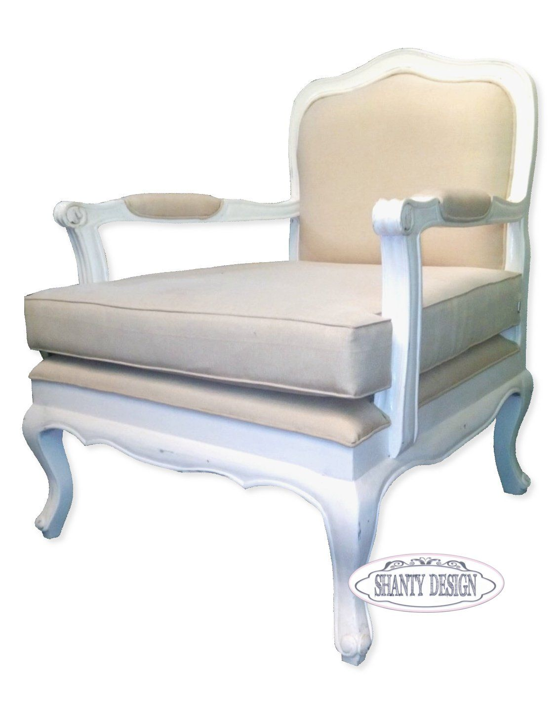 Poltrona shabby chic clarissa 1 sedie for Sedie shabby chic ikea