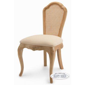 poltroncina da camera da letto shabby chic online con paglia di vienna provenzale e legno bianco