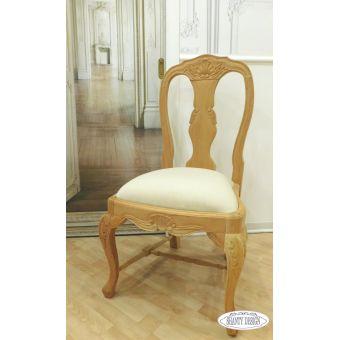 Sedia capotavola in legno decape online bianco shabby chic con fregi stile provenzale CLARISSA 1