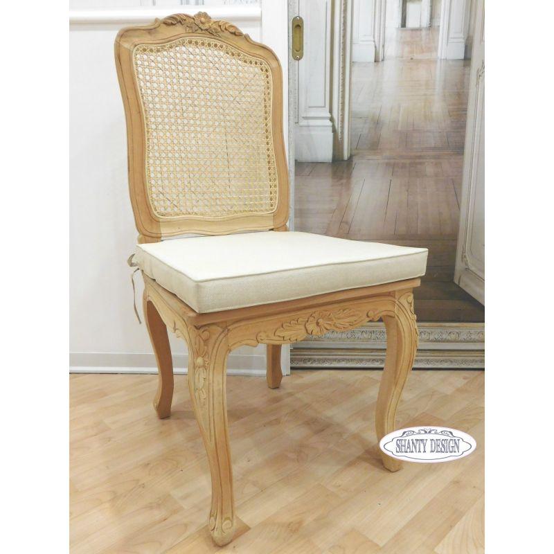 Sedia shabby chic clarissa 2 sedie for Sedia design paglia di vienna