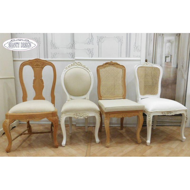 Sedia shabby chic clarissa 2 sedie for Bianco e dintorni arredamento provenzale