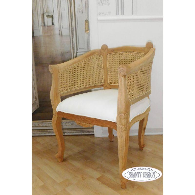 Poltrona shabby chic clarissa 3 sedie