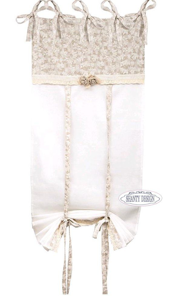 Tenda con mantovana roses 2 shabby chic tende for Tende da cucina stile country