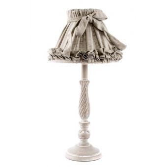 lampada abatjour per comodino romantic 1 in legno decapato bianco stile shabby chic online