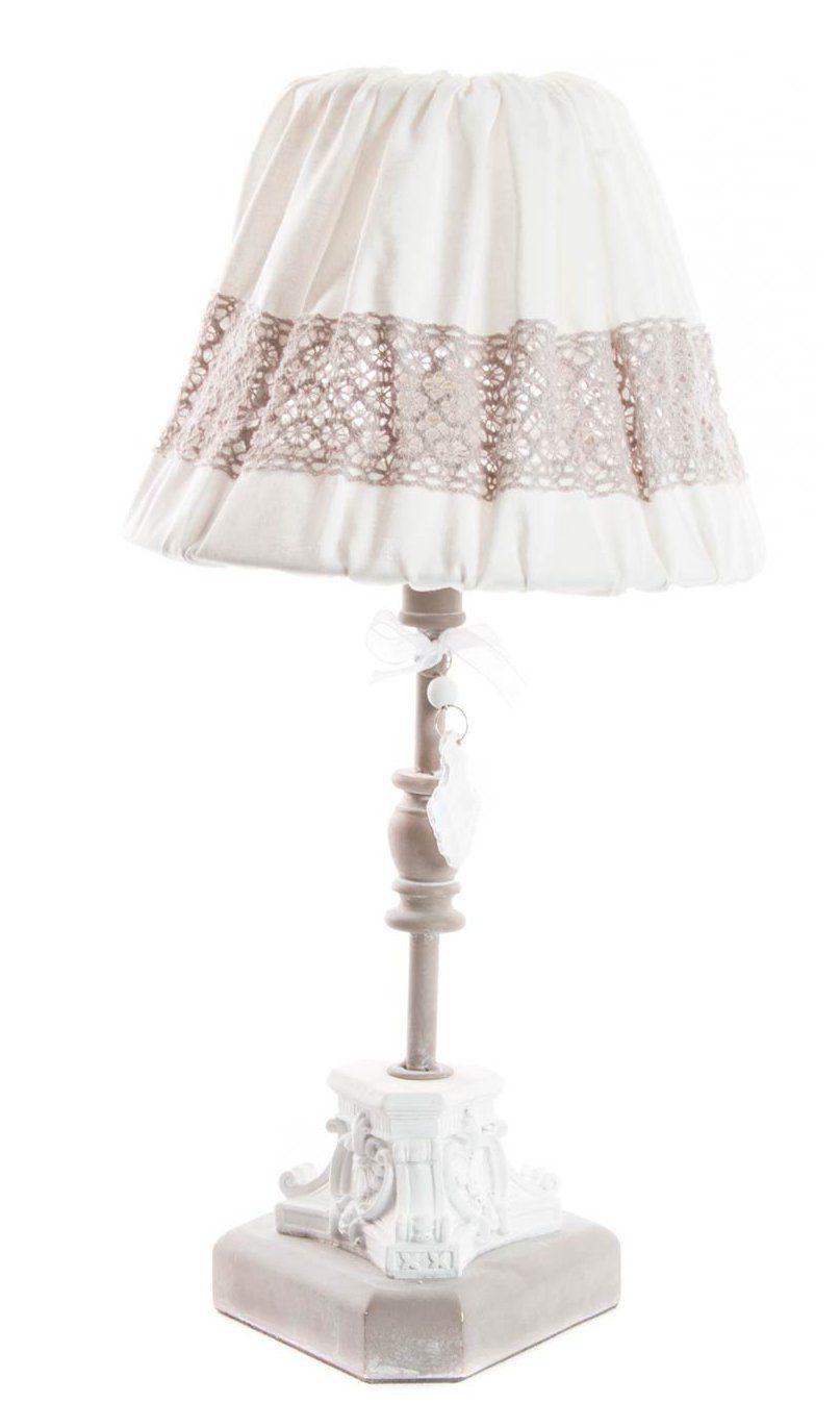 Lampada tavolo romantic 3 shabby chic lampadari lampade for Lumi da comodino