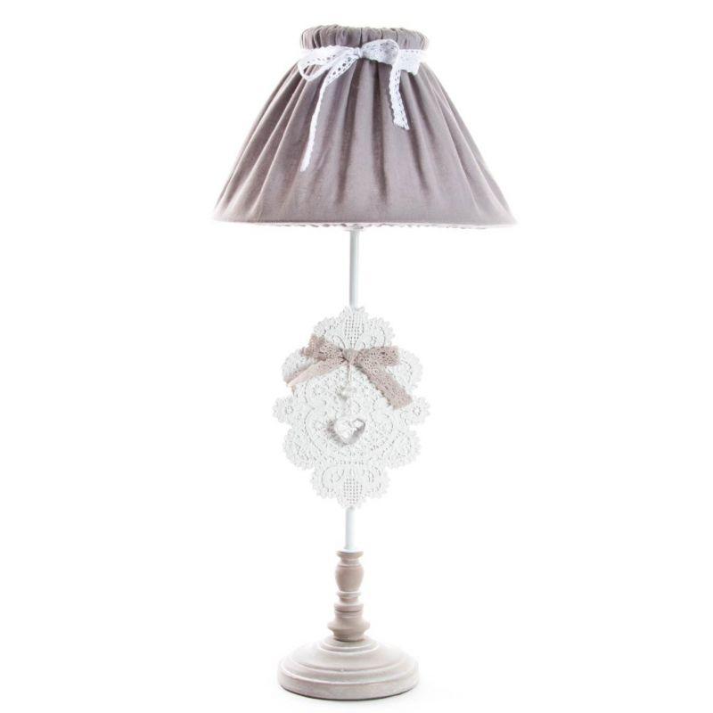 lampada da comodino romantic 4 shabby chic lampadari lampade. Black Bedroom Furniture Sets. Home Design Ideas
